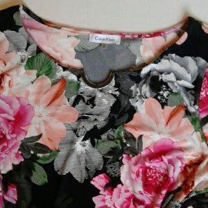 Calvin Klein Tops - Calvin Klein Stretchy Floral Top Size 2X